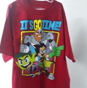 Boys extra large Teen Titans t-shirt red